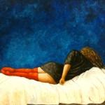 La femme au bas rouge
